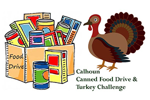 Support Calhoun's Thanksgiving Food Drive & Turkey Challenge