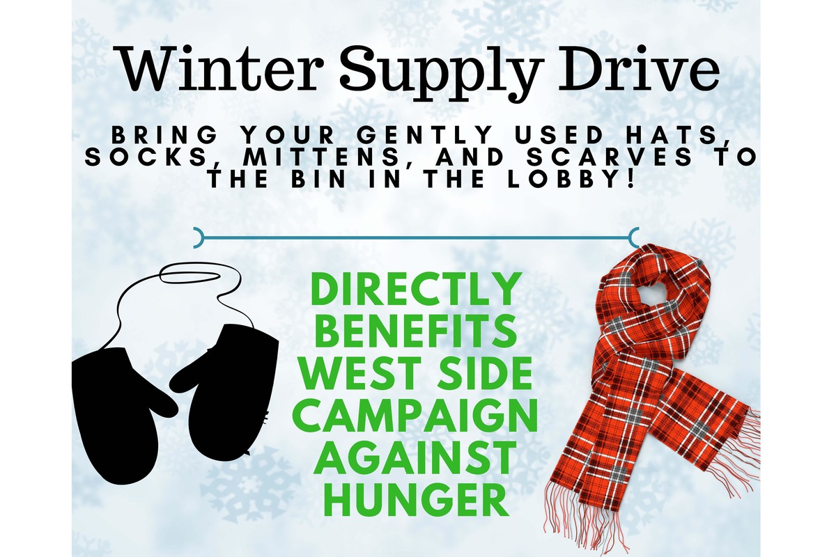 Donate to the Winter Supply Drive, Ends Feb. 13