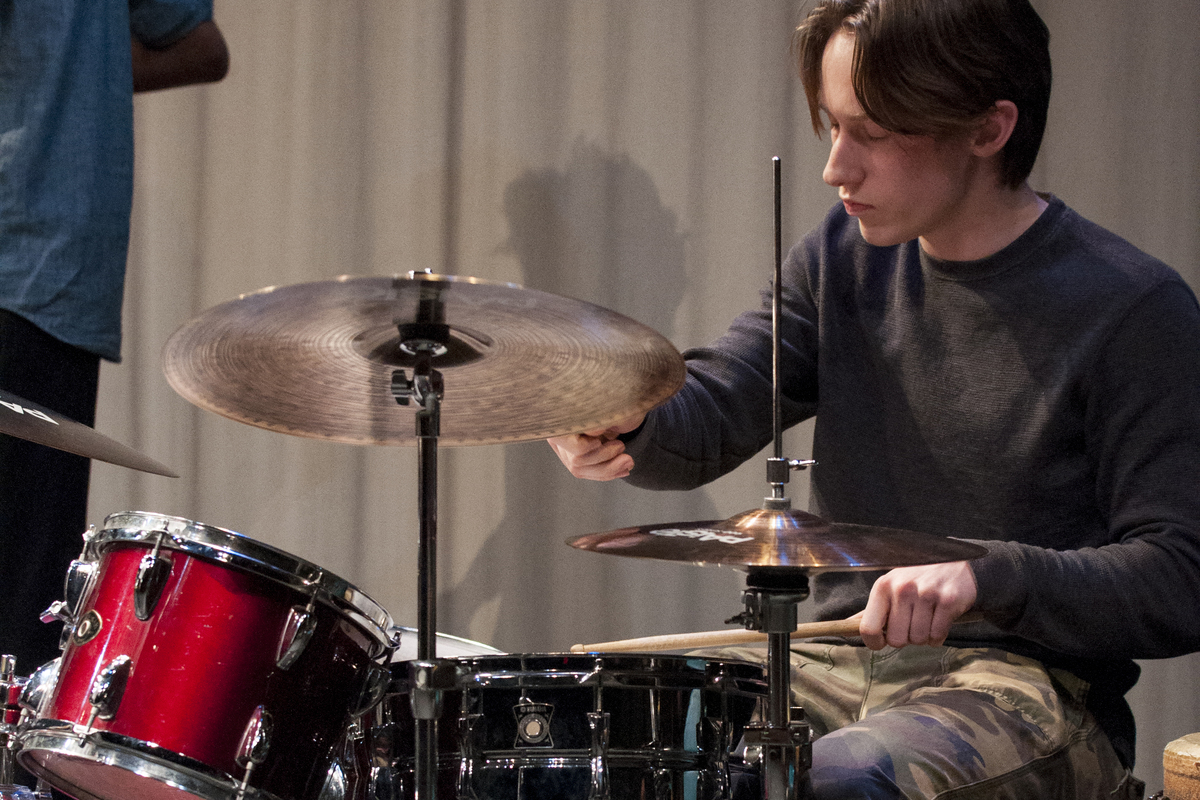 Senior Darius Marmorstein Performs with Pro Percussion Ensemble, Feb. 12