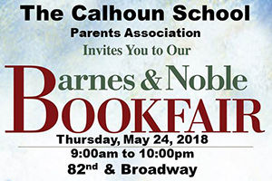 Calhoun Book Fair at Barnes & Noble, May 24
