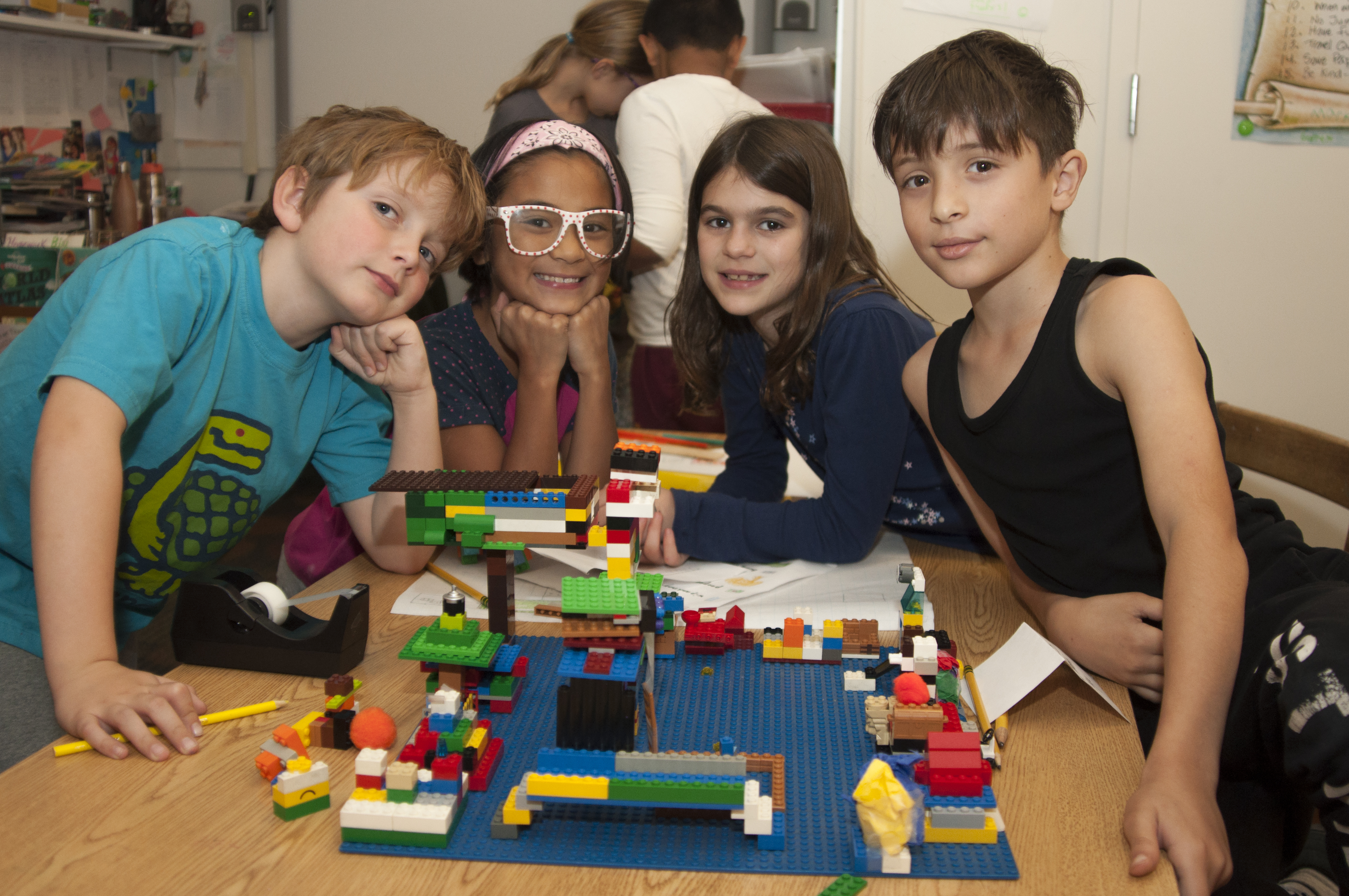 Lower School Students Building Structures