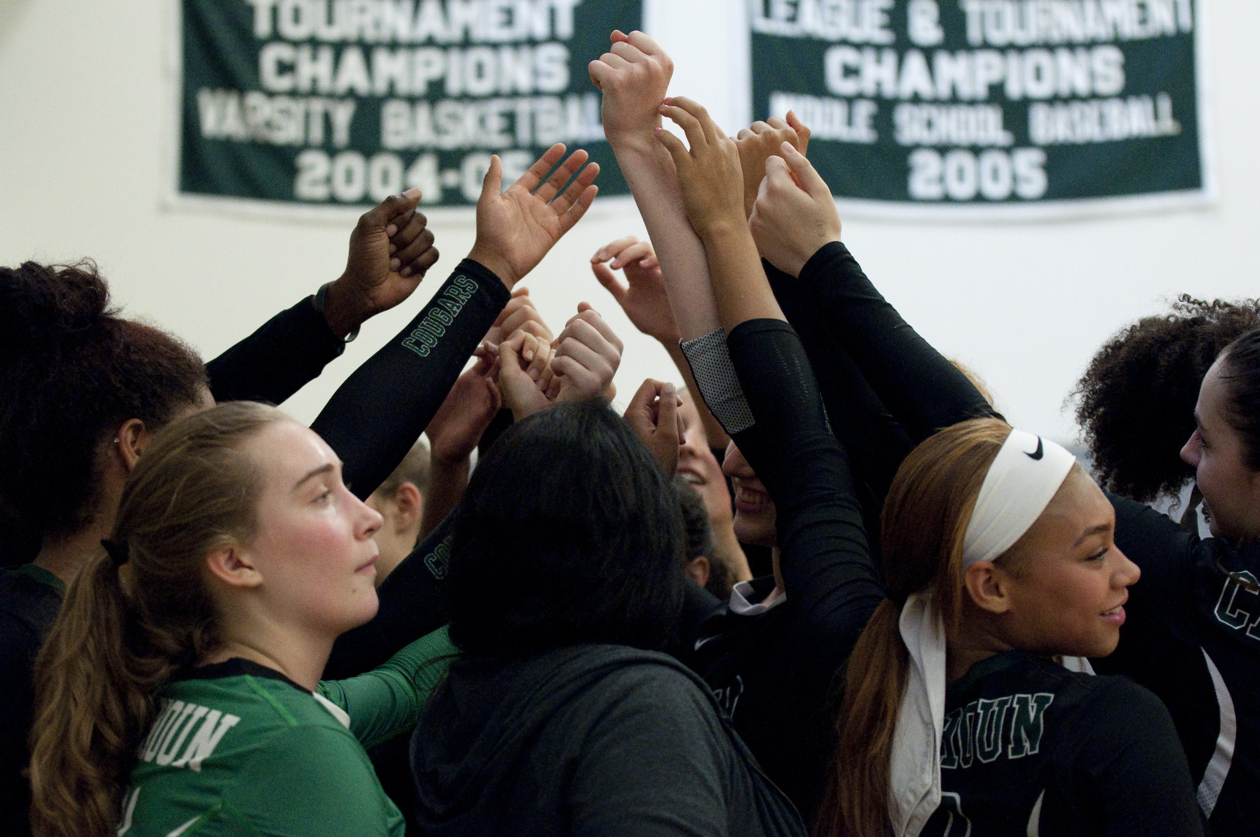Volleyball Victory Celebration