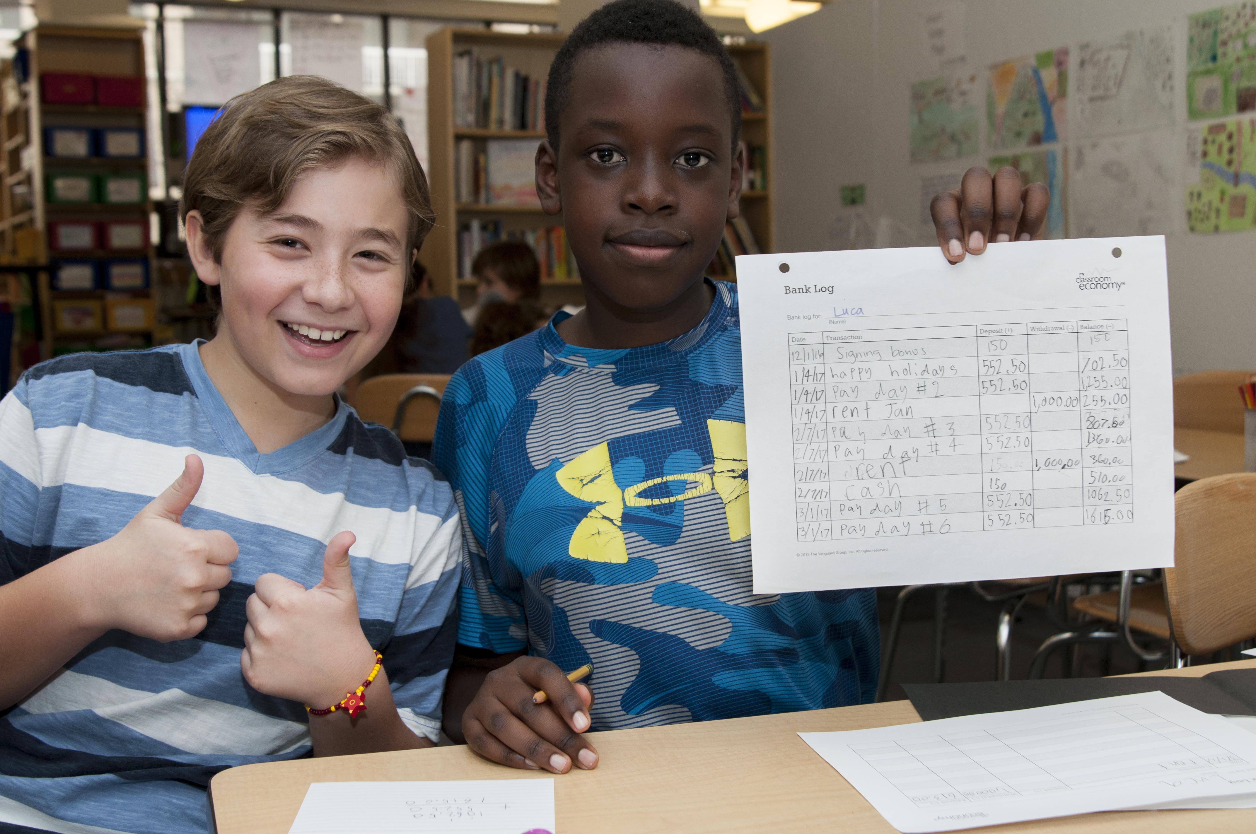 Math Comes to Life Through 5th Grade Classroom Economy
