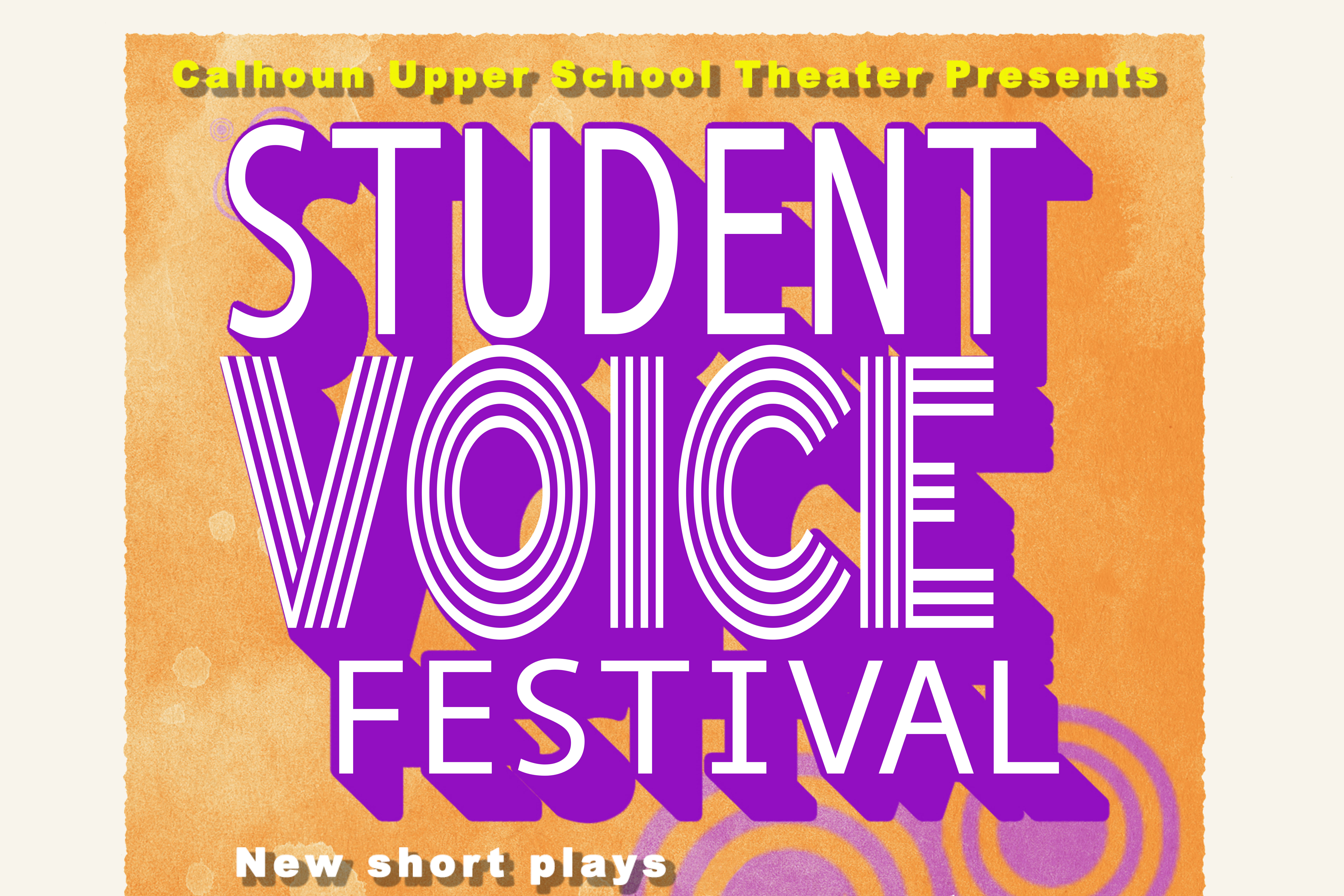 US Theater Play Poster - Student Voice Festival